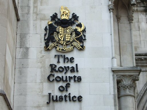 Royal Court of Justice sign